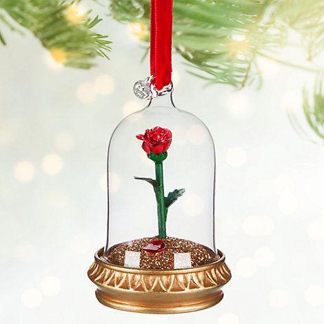 D coration de no l lumineuse rose la belle et la b te disney decoration noel no l disney - Decoration de noel disney ...