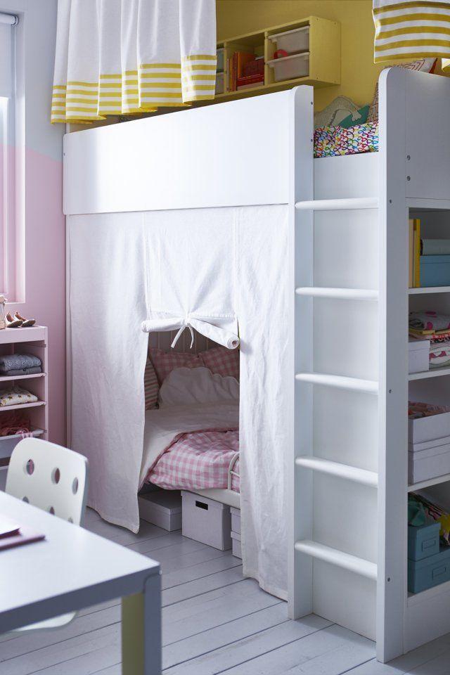 lit mezzanine avec banquette pour enfant ikea marie claire maison - Lit Mezzanine Ikea