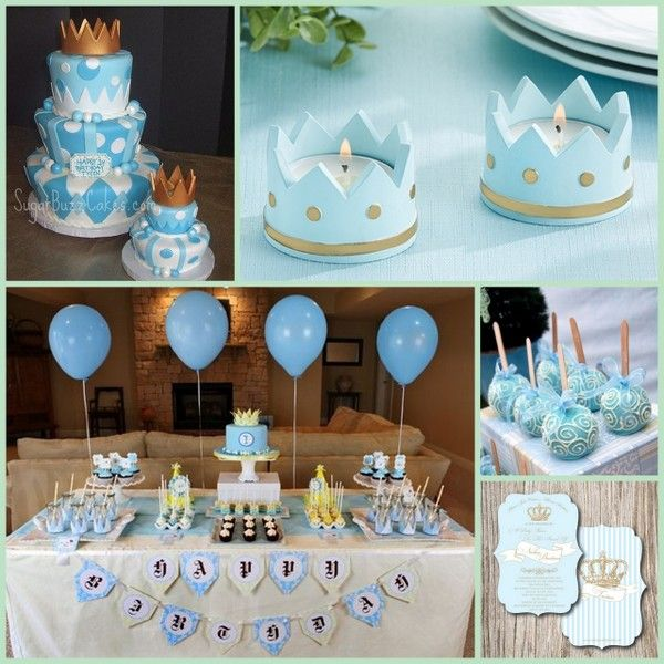 Little Prince Baby Shower Or Birthday Theme Prince Baby Shower