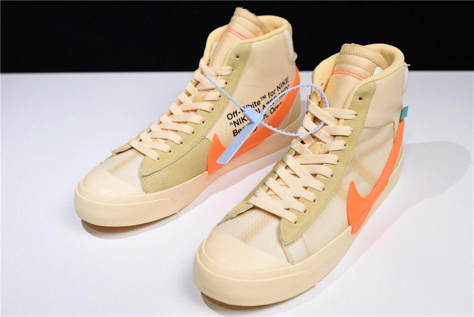 "d33cbec0920874 2018 OFF-WHITE x Nike Blazer Studio Mid ""All Hallows Eve"" AA3832-700 ..."