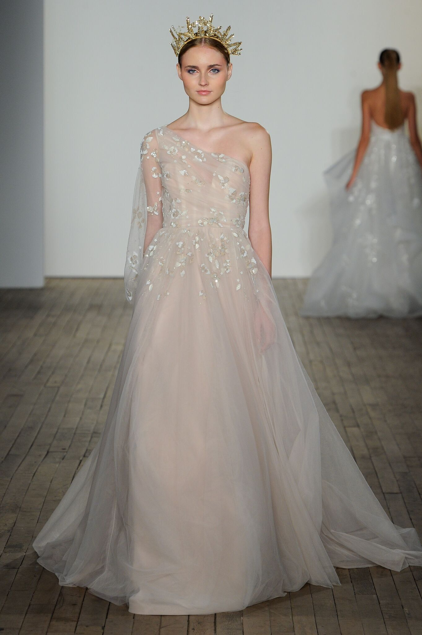 1f0db9a91184 Archie by Hayley Paige | i do in 2019 | Wedding dresses, Pink ...