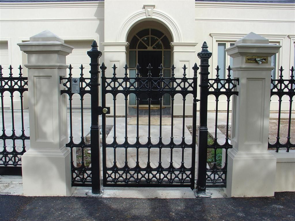 Hindmarsh Fencing And Wrought Iron Security Doors Gates House Gate Design Gate Design Gates And Railings