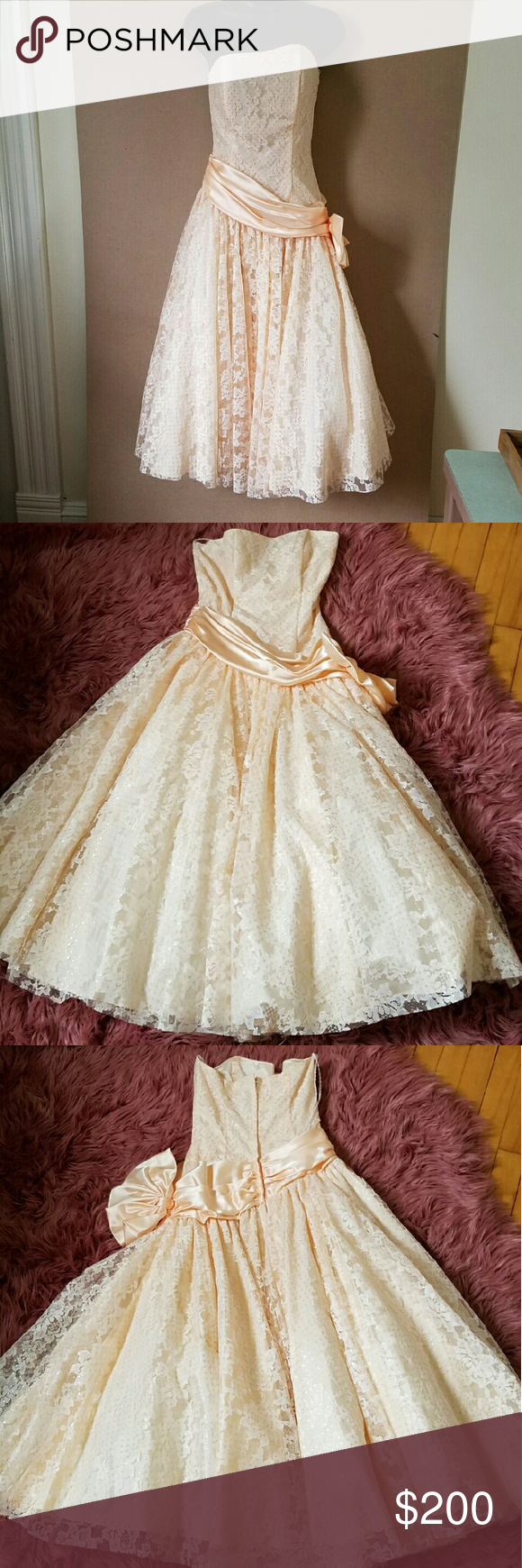 Vintage zumzum formal prom dress s