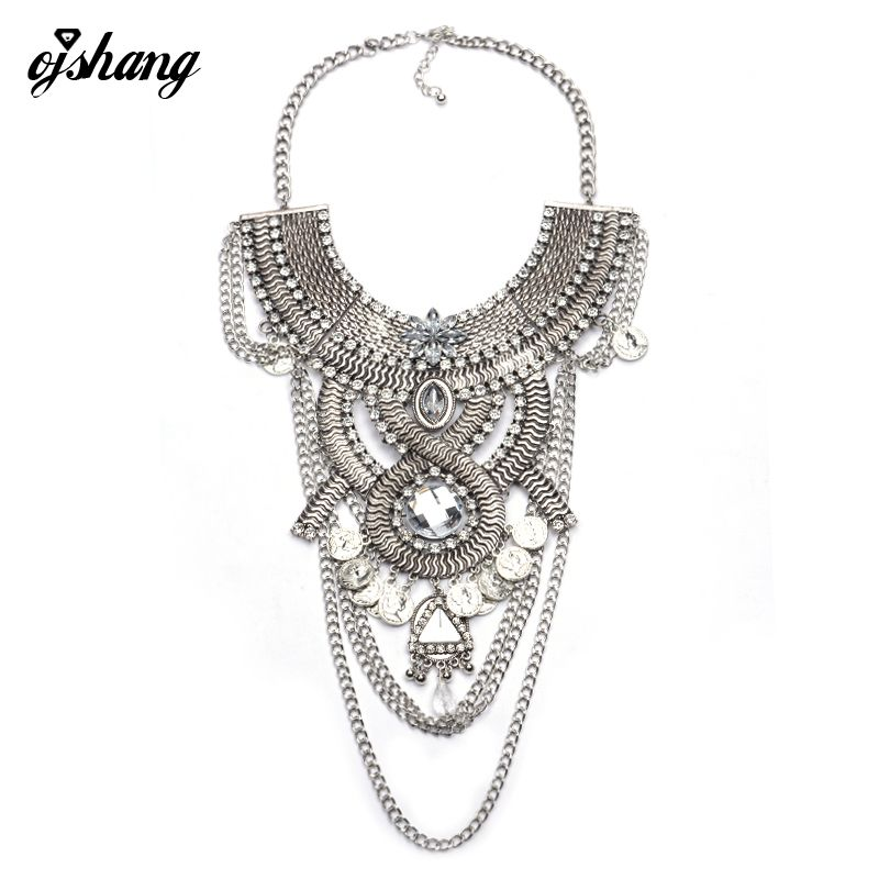 Fashion necklaces pendant women 2016 choker jewelry coin collier fashion necklaces pendant women 2016 choker jewelry coin collier femme long silver costume big vintage chunky mozeypictures Images
