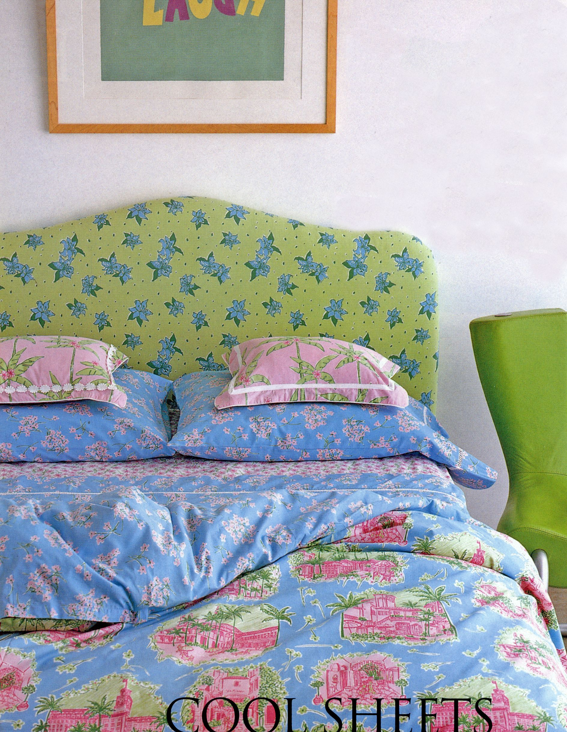 Cover Headboard With Fabric Lilly Pulitzers Bedding By Dan River Palm Beach Toile Duvet