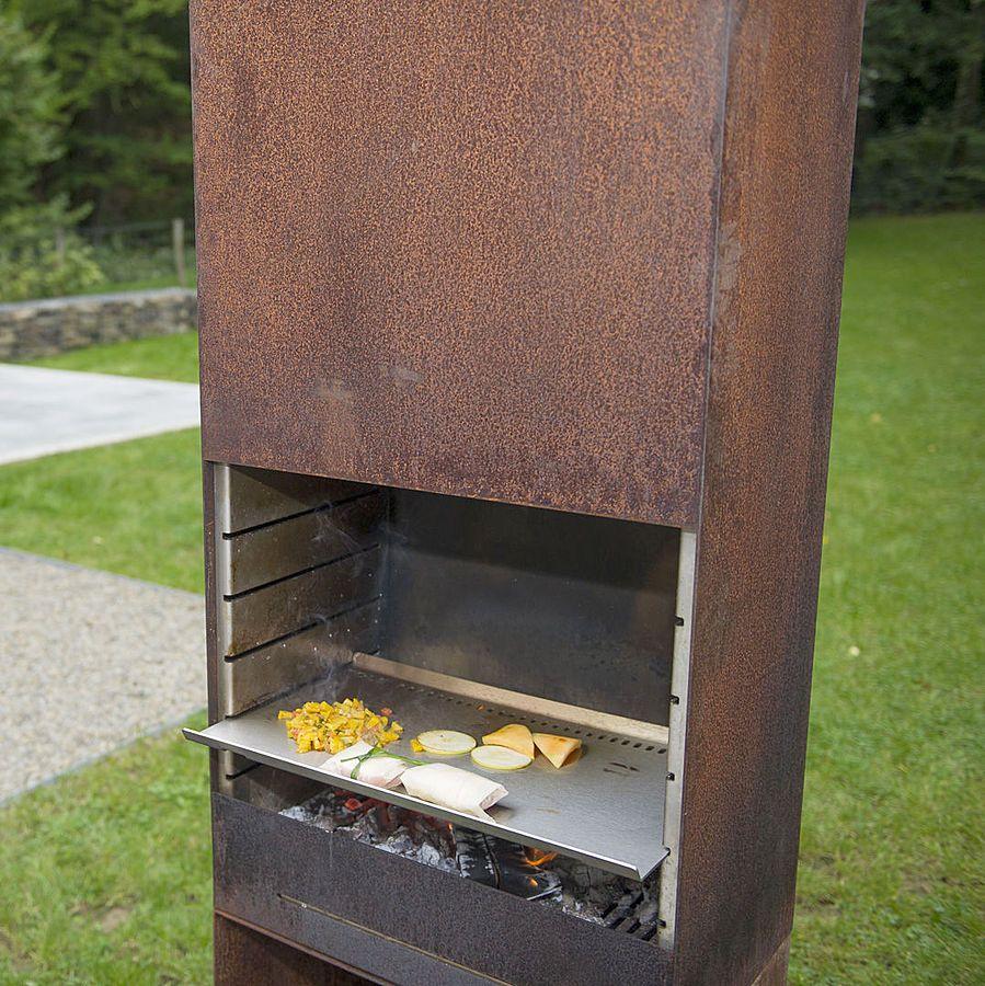 Designatgartenhaus De a year barbecue for the designer set barbecues corten steel