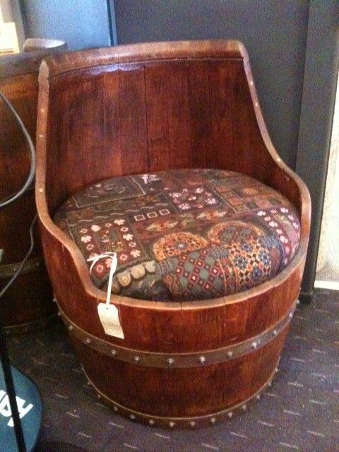 wine barrel chair hitchcock rocking i love this little ecclectic a set of two with small table would make an interesting bistro