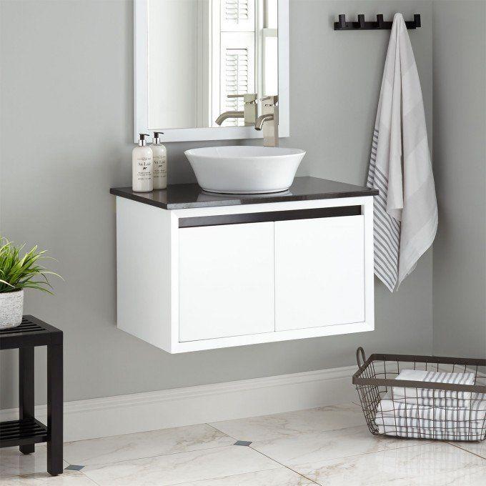 25+ White bathroom vanities with vessel sinks type