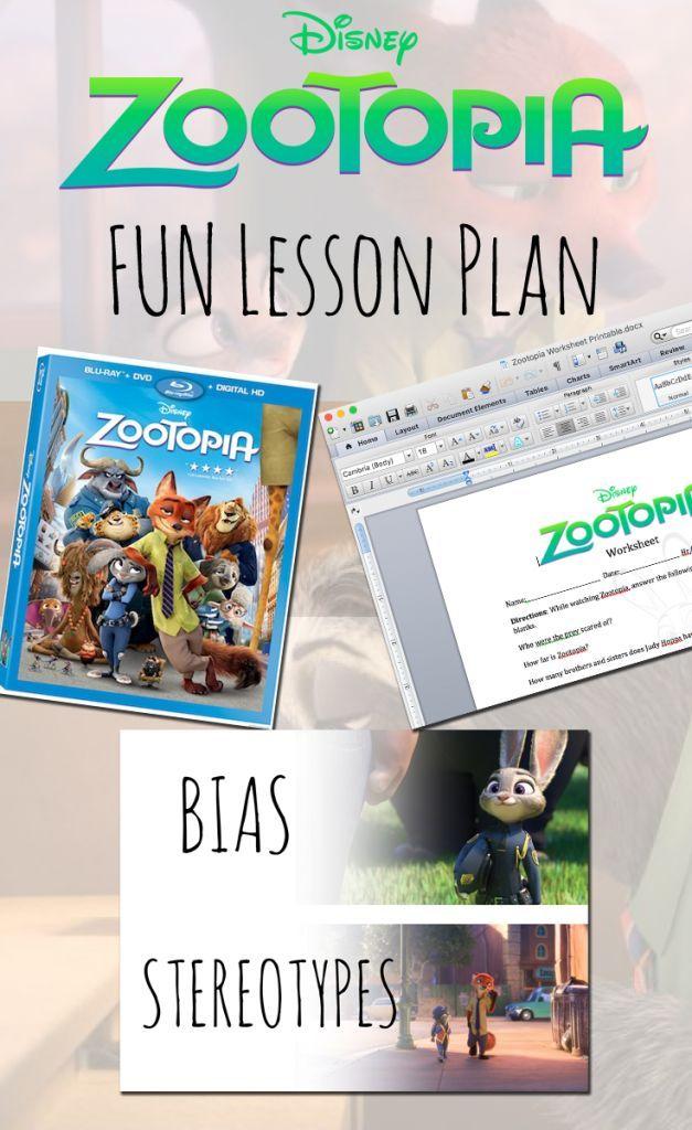 Zootopia Lesson Plan – Teaching Kids About Bias vs. Stereotypes ...