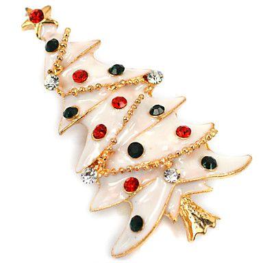 Christmas Tree Brooch Brooch Korean High-Grade Diamond Lady Accessories Collar Christmas Gift 5360578 2016 – $5.99