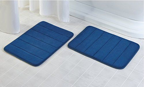 2 Pack 17 X 24 Microfiber Memory Foam Bath Mat With An Http