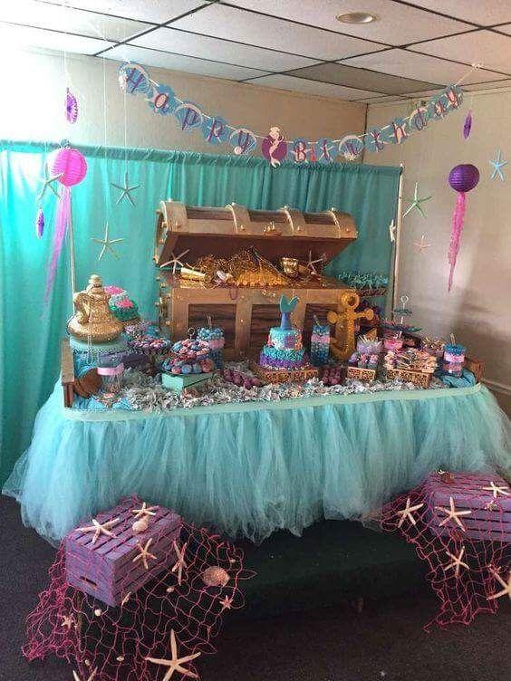 Paint Treasure Chest Like This Elena 4th Birthday Party Mermaid