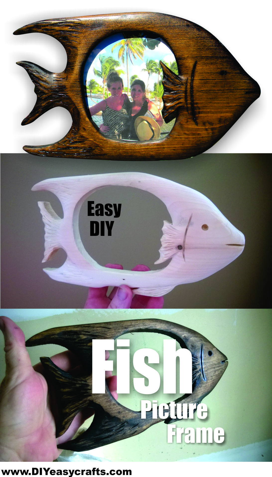 How to easily make a diy tropical fish shaped picture frame easy how to easily make a diy tropical fish shaped picture frame easy wood working craft diyeasycrafts solutioingenieria Image collections