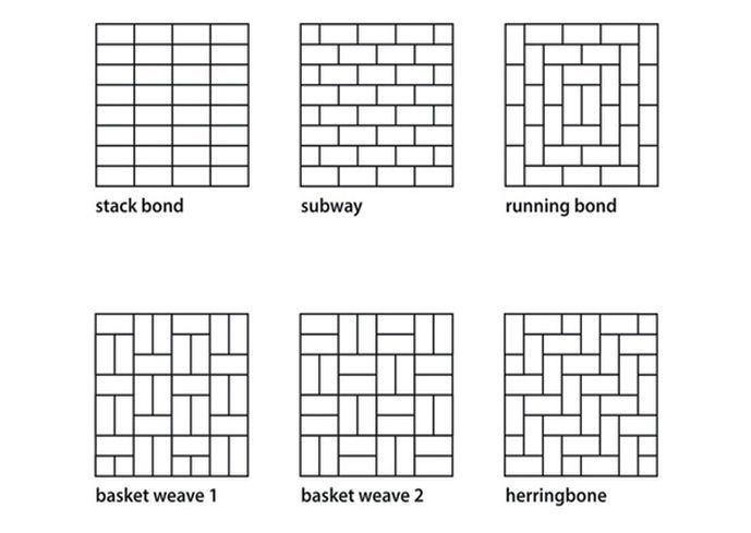 Subway Pattern Tile subway tile patterns | 3x6 subway tile pattern | kitchen tile
