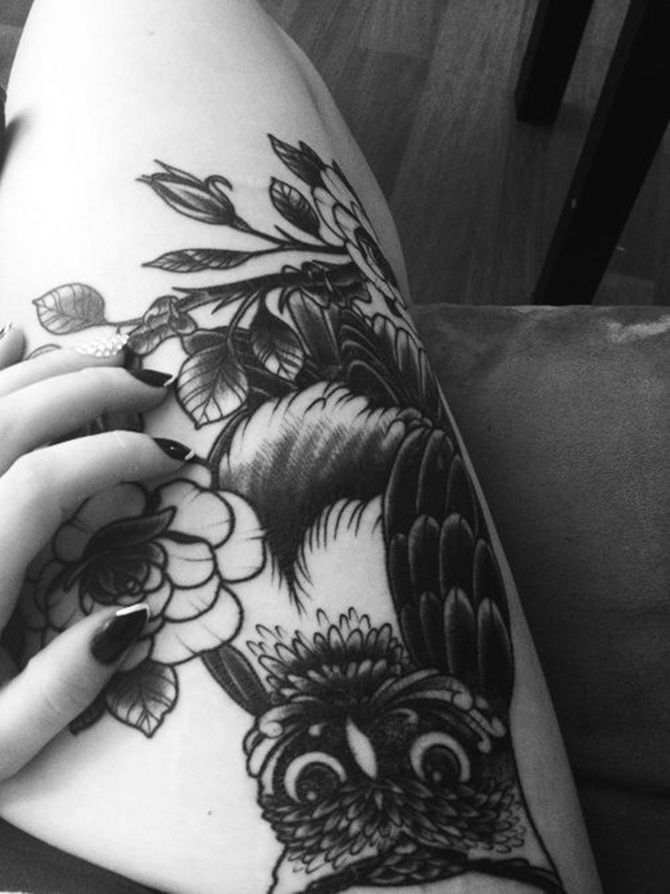 Sexy girl thigh tattoos