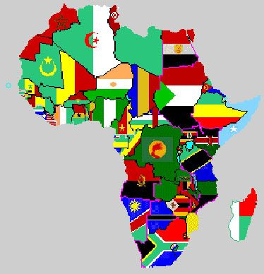 africa map countries flags