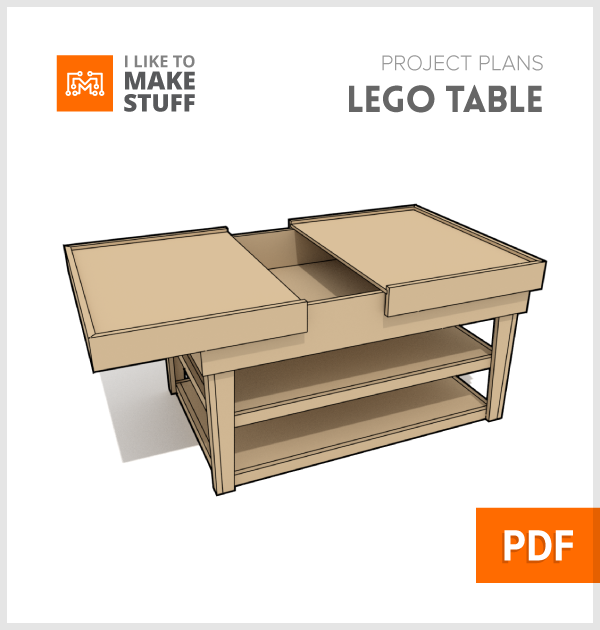 Lego build table - Digital Plans - I Like To Make Stuff