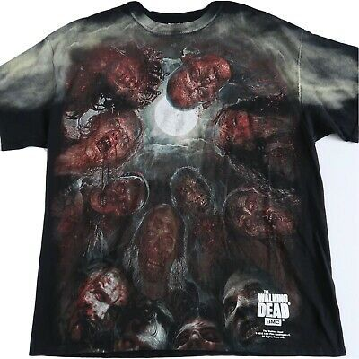THE WALKING DEAD Mens XL 2015 Zombie Horror Scary AMC Television Series T Shirt #fashion #clothing #shoes #accessories #men #mensclothing (ebay link)