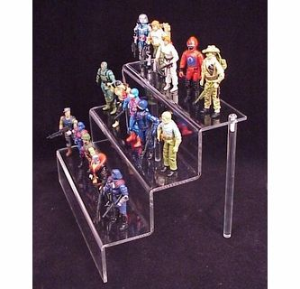 Clear Action Figure Toy 3 Stair Deluxe Display Shelffor Medium Sized Action Figures And Toys Action Figure Display Action Figures Displaying Collections