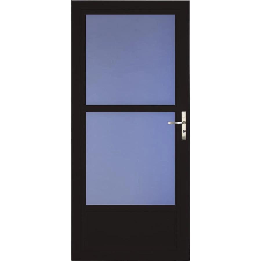 Larson Tradewinds Midview Black Mid View Aluminum Storm Door Common 36 In X 81 In Actual 35 75 In X 79 75 In Lowes Com In 2020 Aluminum Storm Doors Storm Door Retractable Screen