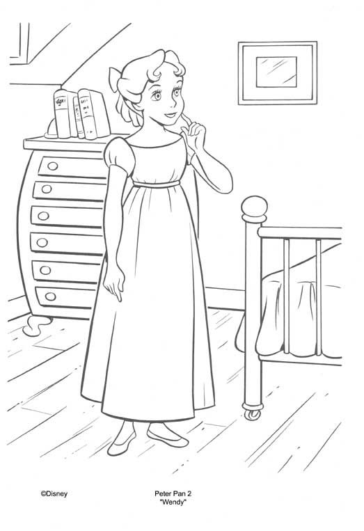 Wendy From Peter Pan Jpg 523 763 Com Imagens Desenhos Para