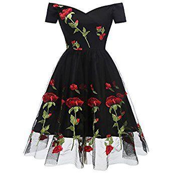 promgirl house damen neu kurz mini abschulter kurze aermel satin rose print chiffon abendkleid