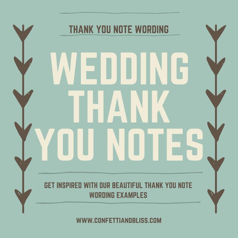 Wedding Thank You Note Wording Generous Wedding Gifts Wedding