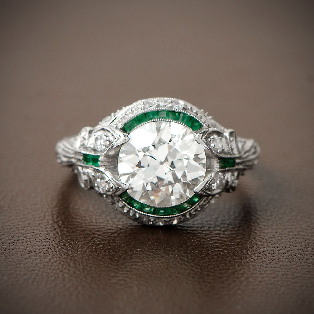 ring creative under unique vintage and cocktail rings platinum band gems earthy diamond emerald stores pretty art engagement euro silver most solitaire estate gorgeous unusual