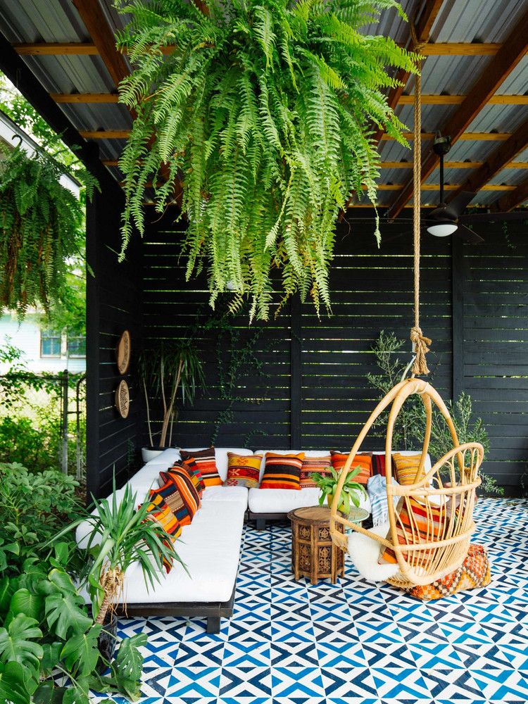 A Modern Bohemian Home Thatu0027s a Lesson in Living Colorfully - jardines en terrazas