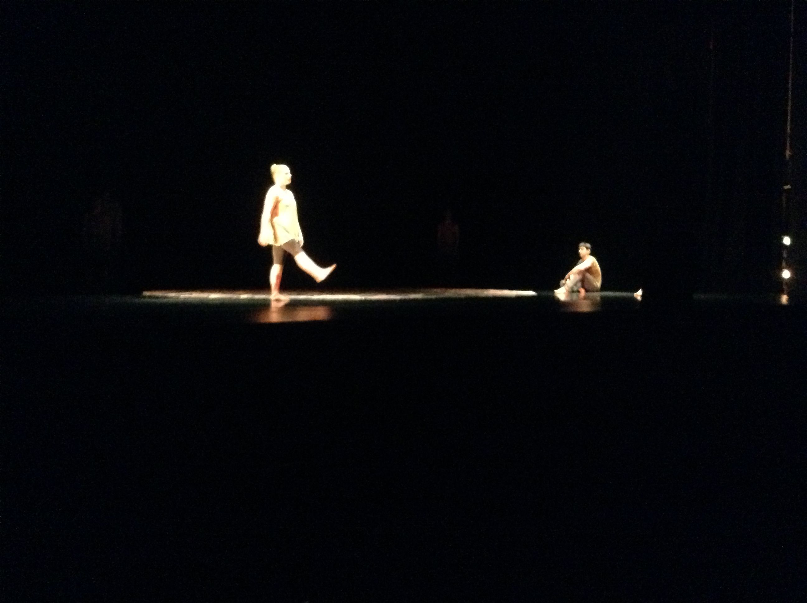 Jeremy's Lighting design for William's piece really inspired me on how to light my dancer.