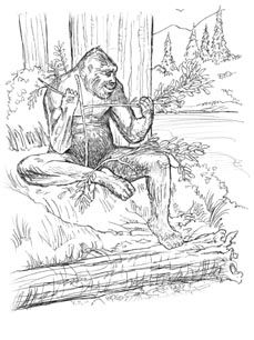 Sasquatch Coloring Pages Google Search Bigfoot Party Sketches