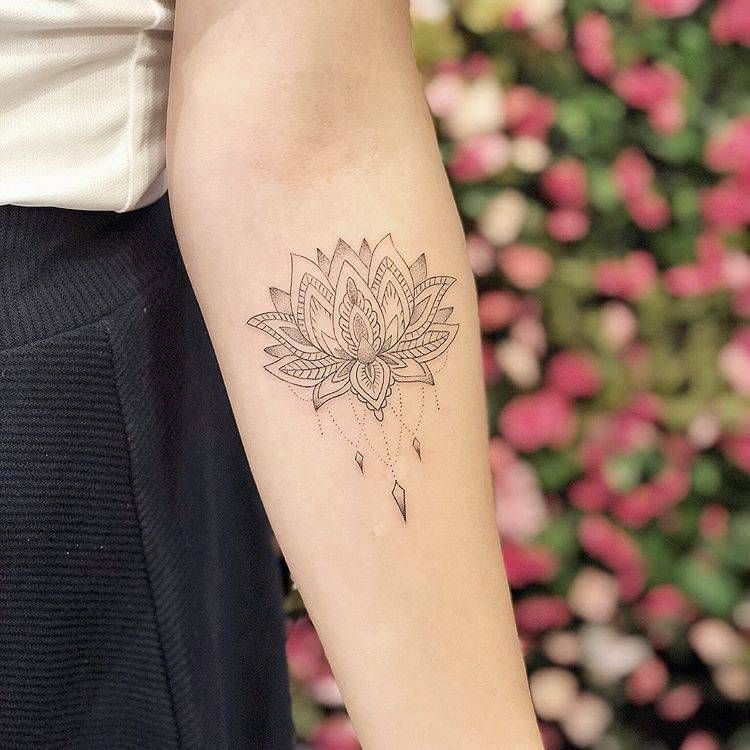 Lotus Flower Tattoo On The Left Inner Forearm Forearm Tattoo Women Arm Tattoos For Guys Small Tattoos For Guys