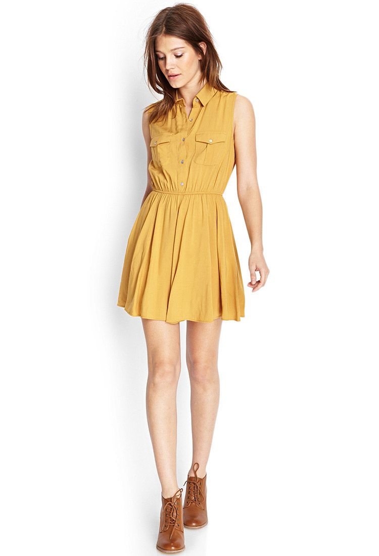 Fit flare shirt dress forever 21 canada flare shirt