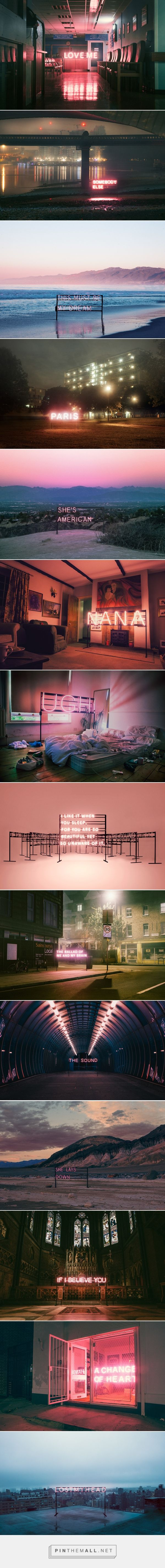 The 1975: Neon Signs on Behance - created via https://pinthemall.net