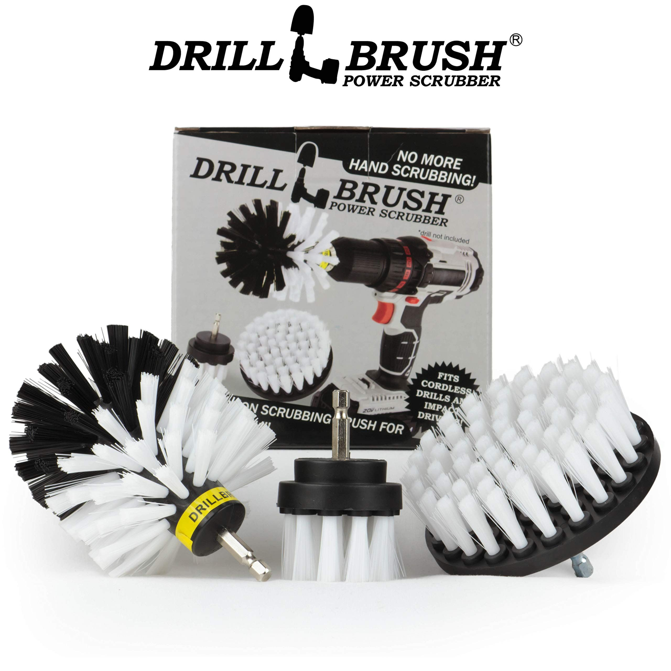 Drillbrush 3 piece drill brush cleaning tool attachment