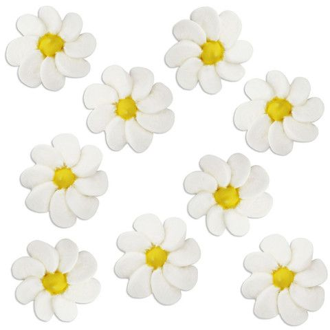 Daisy Icing Flowers - Layer Cake Shop