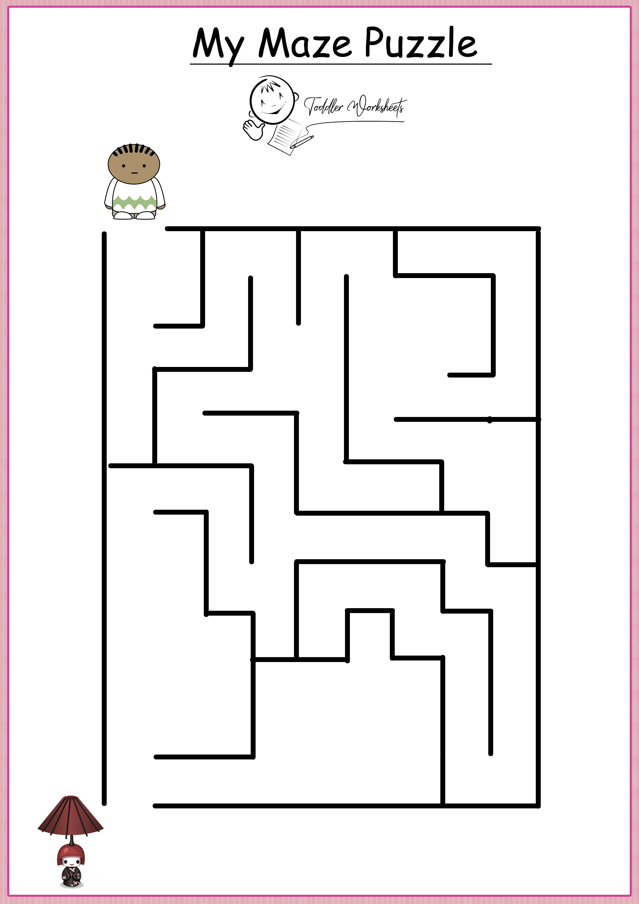 Free Preschool Mazes Worksheets With Images
