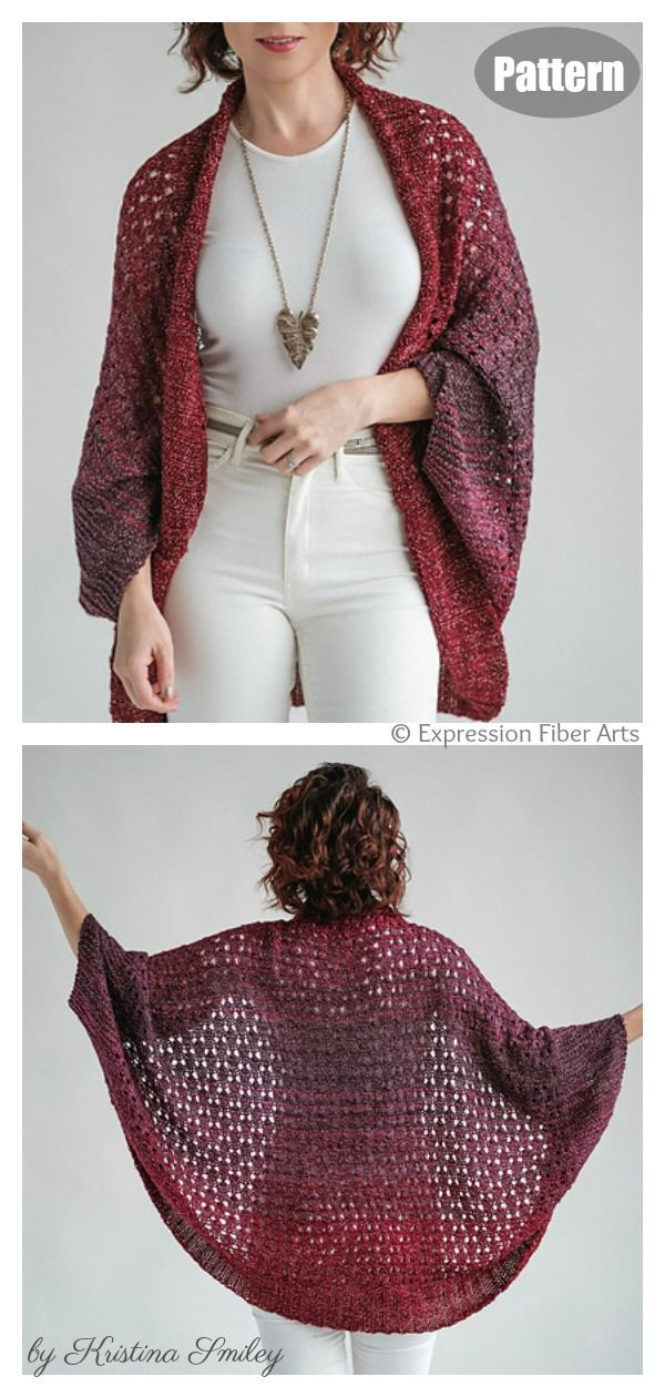 Easy Enchanted Cardigan Knitting Pattern for Beginner ...