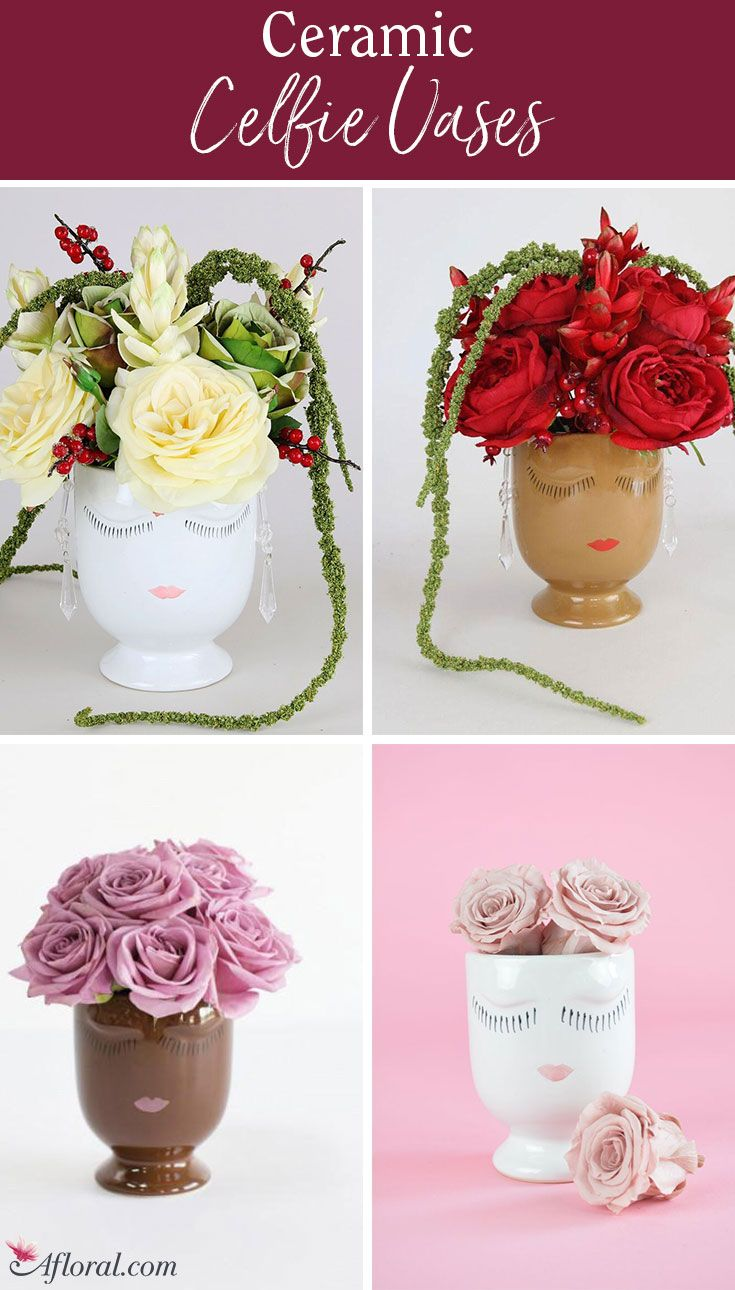 Celfie vases bring such a feminine and soft touch to any centerpiece ...
