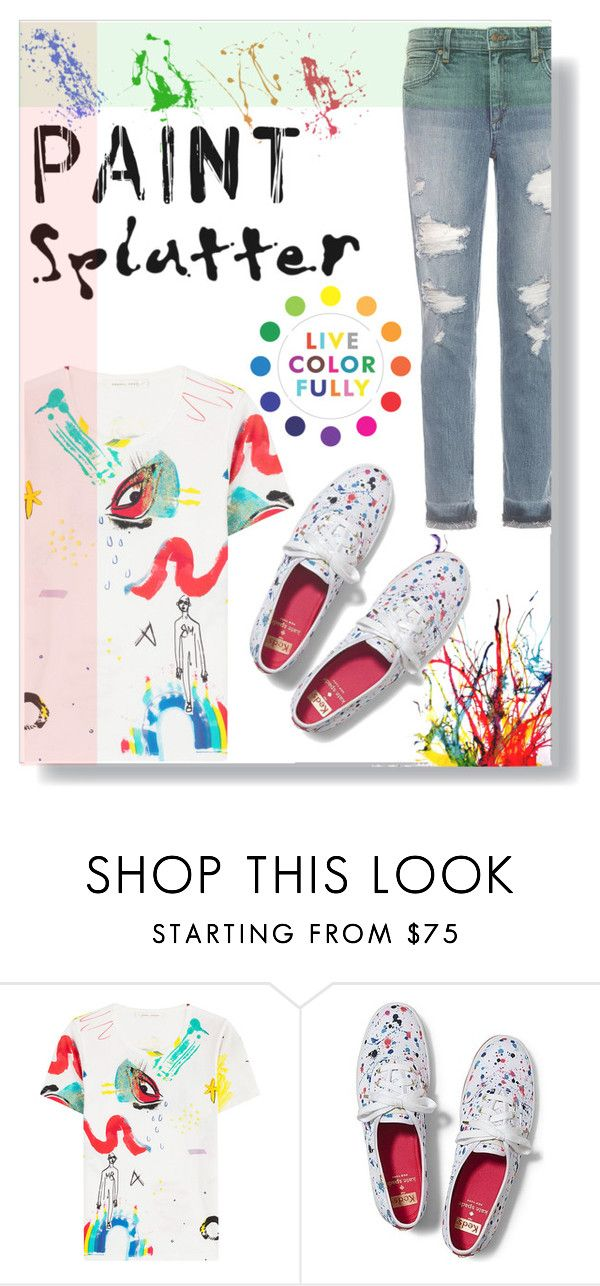 """""""Paint Splatter"""" by fashionlover2157 ❤ liked on Polyvore featuring Marc Jacobs, Keds, Joe's Jeans, Therapy, colorful and paintsplatter"""