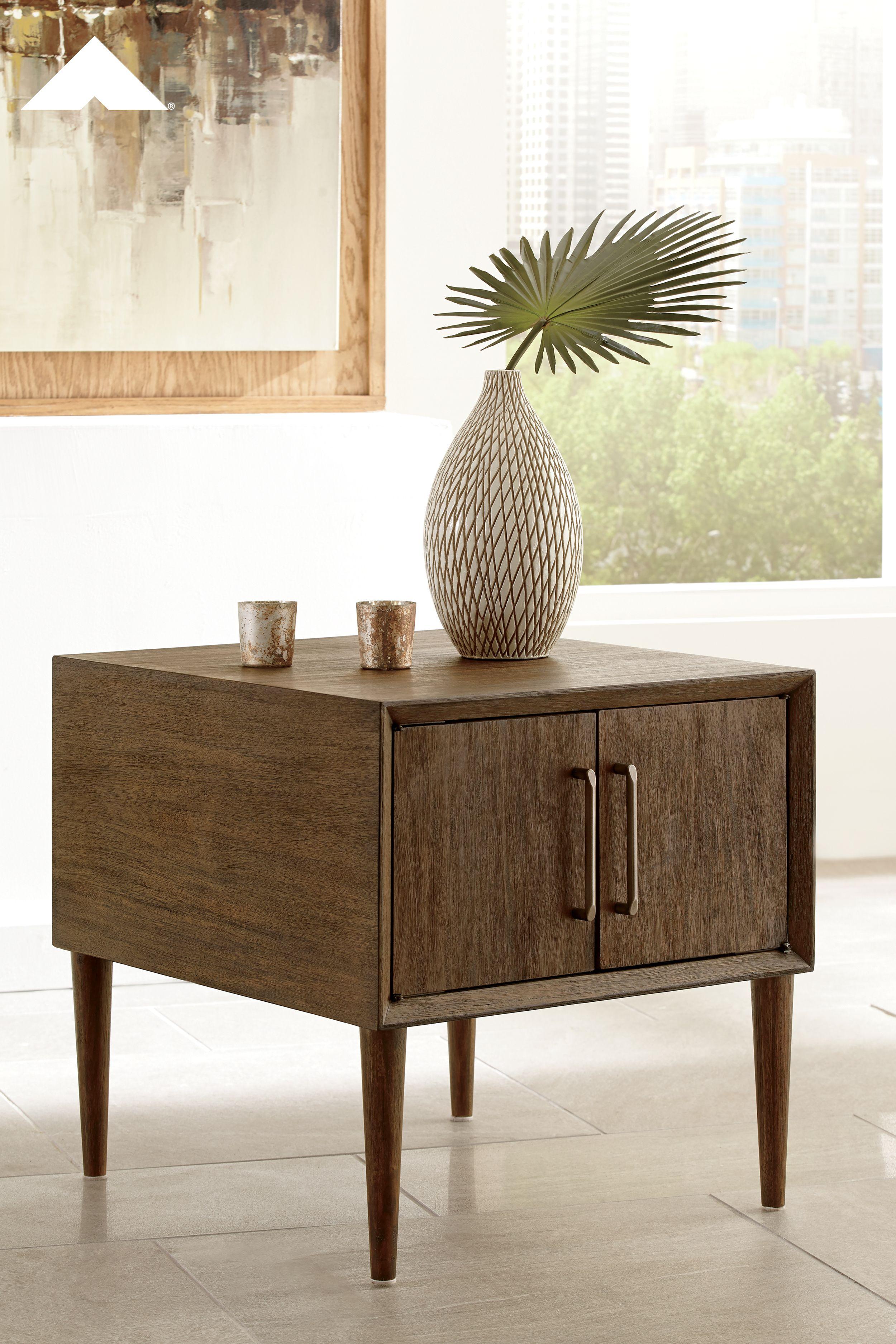 Kisper Dark Brown Square End Table By Ashley Furniture