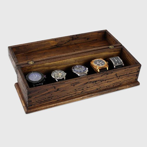 Watch Box Watch Case Men S Watch Box Watch Box For Men Wood Watch Box Watch Display Personalized Gift Custom Watch Box For 5 Watches Boite A Montre Boite Et Montre