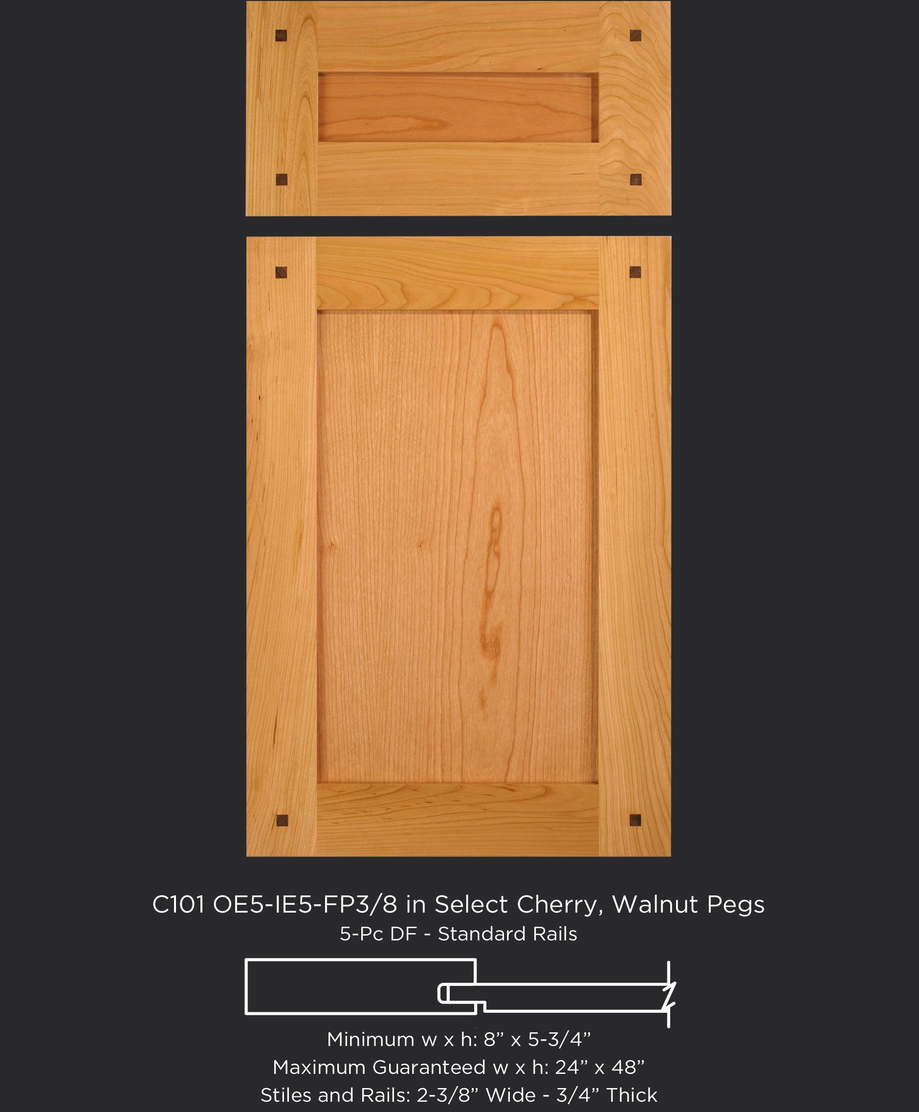 cherry shaker cabinet doors. Shaker Style Cabinet Door In Cherry With Walnut Pegs By TaylorCraft Company C101- Doors S
