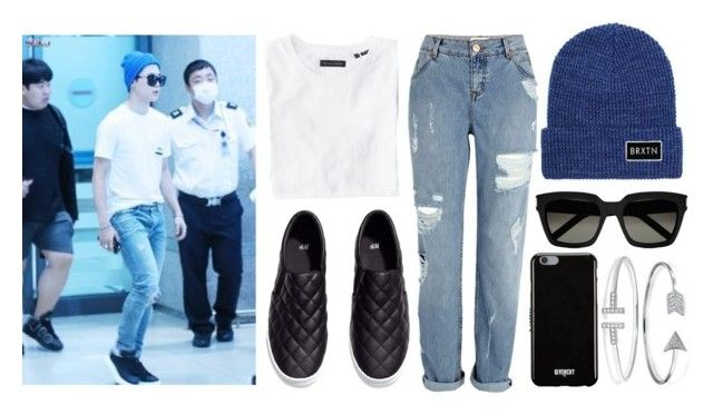 """BTS Jimin"" by banana-lee ❤ liked on Polyvore featuring Wings + Horns, River Island, H&M, Brixton, Yves Saint Laurent, Givenchy and Bling Jewelry"