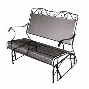New Outdoor 2 Two Seater Wrought Iron Glider Bench