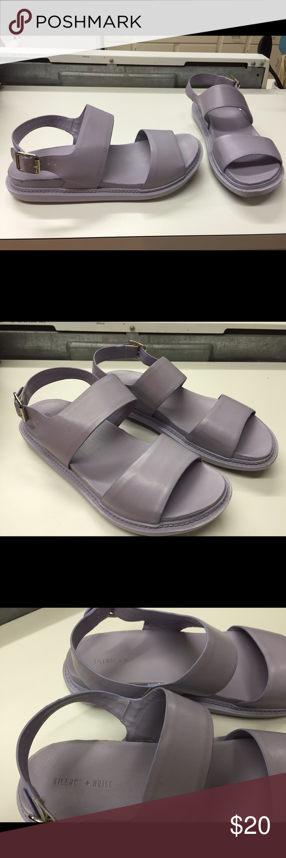 Lavender sandals shoes - Urban Outfitter Silence Noise Lavender Sandals