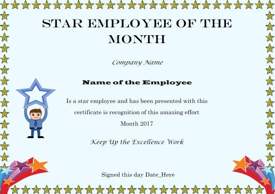 Staremployeeofthemonthcertificatetemplate employee of the elegant and funny employee of the month certificate templates free printables demplates yadclub Image collections