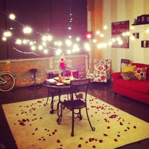 HOW TO USE CHRISTMAS LIGHTS THIS VALENTINE'S DAY. A Beautiful Way To Use Christmas Lights