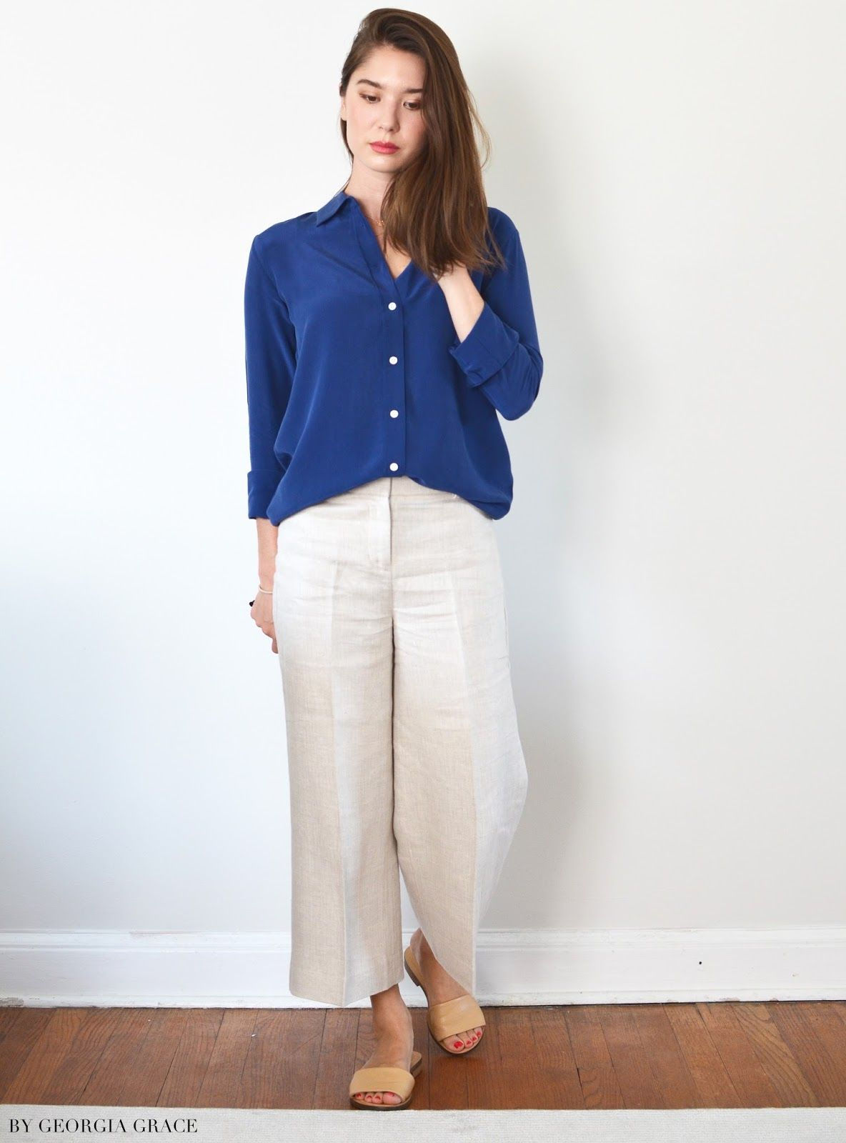 d3a55218f5 Everlane Relaxed Silk Shirt & Slim Silk Shirt | Threads | Shirts ...