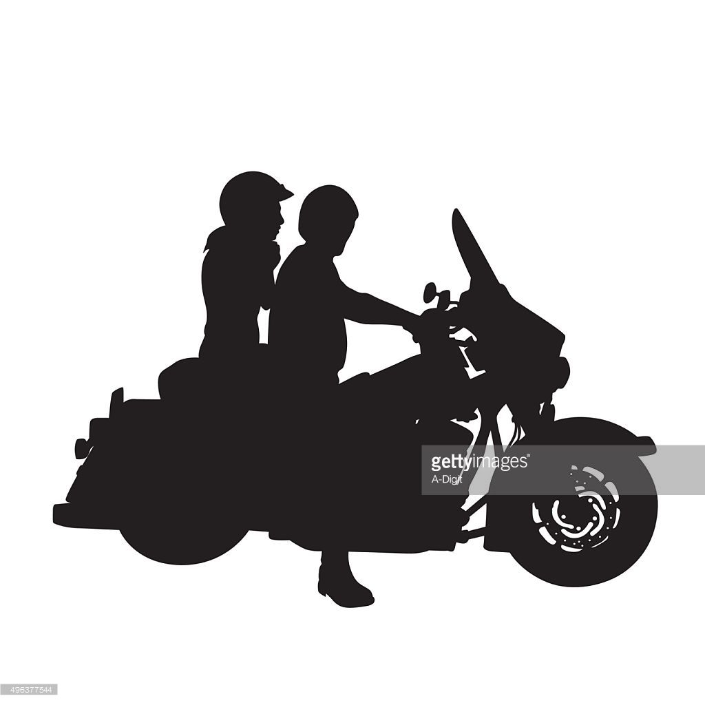 how to draw a motorbike with a person riding it